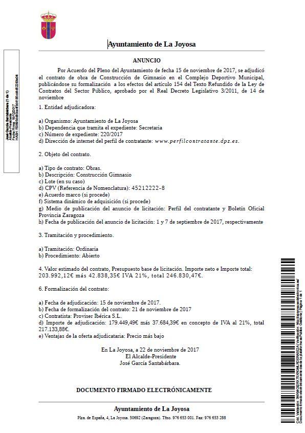 ayuntamiento la joyosa marlofa contrato de obra de construcción