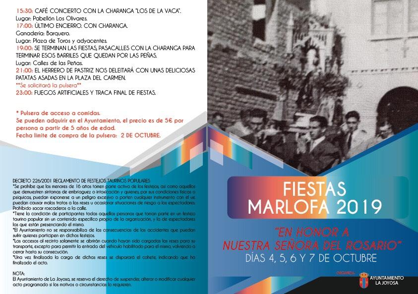 Programa de fiestas La Marlofa 2019